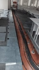 Commercial office raised metal access floor with IOBAC magnetic flooring