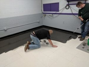intelli-force IOBAC Magnetic flooring over vinyl