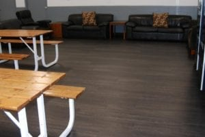 IOBAC magnetic flooring - intelliforce magnetix cafe after 1