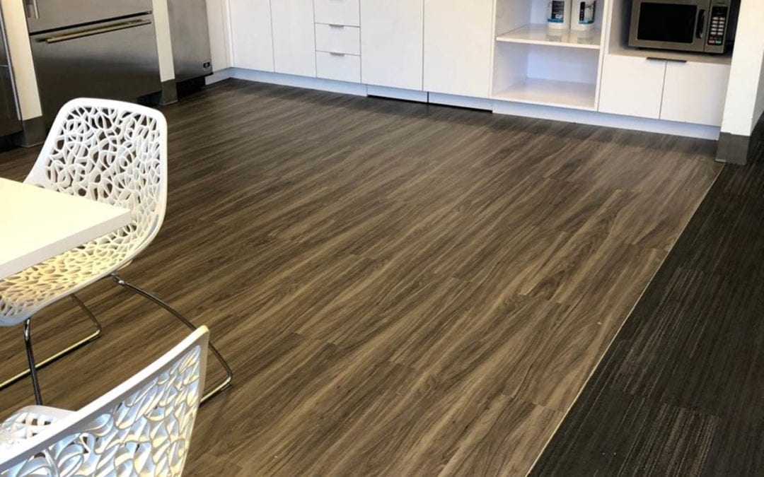 Another successful office flooring installation with MagTabs