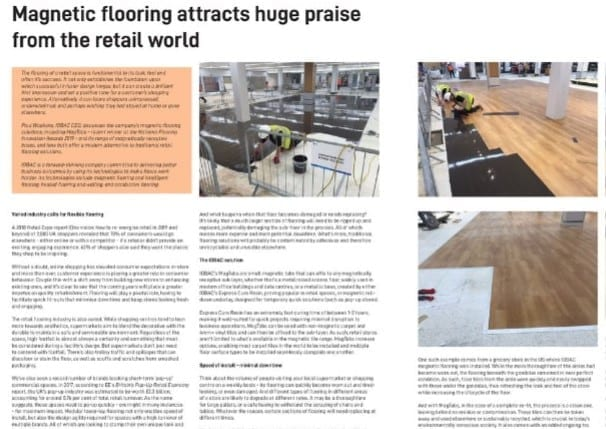 Magnetic flooring attracts huge praise from the retail world