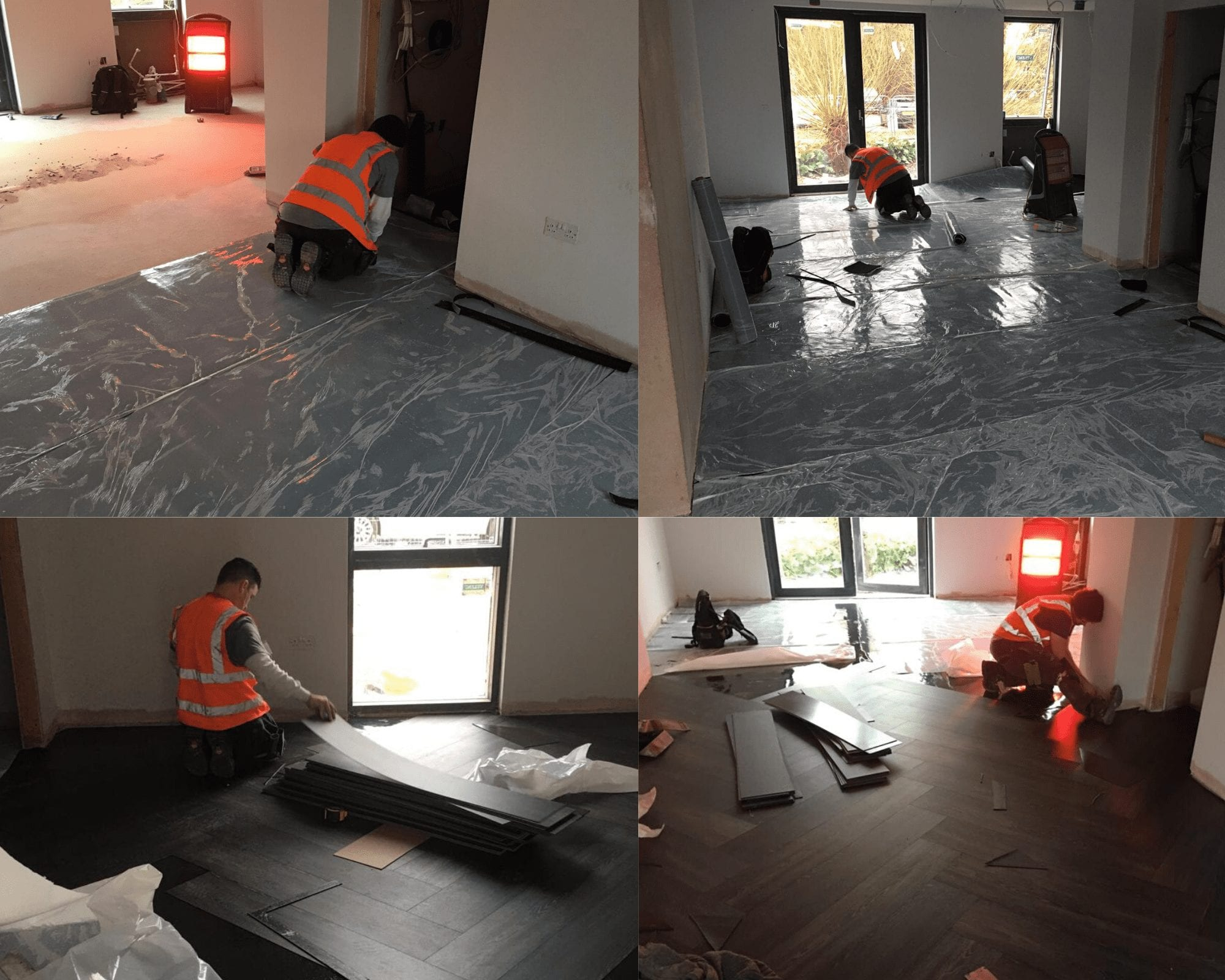 BRE Montage - Project Etopia - IOBAC Ezy-Install magnetic flooring installation technology