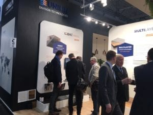 IOBAC magnetic flooring - Domotex stand Jan 2020