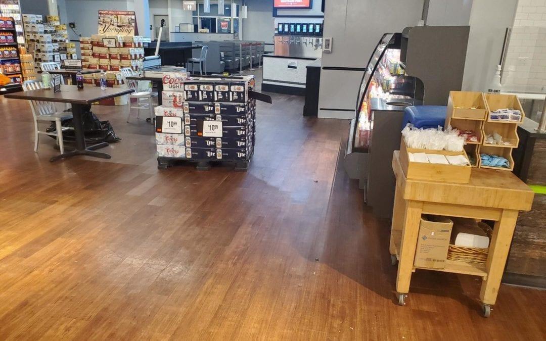 Fantastically Flexible Magnetic Flooring at US Supermarket