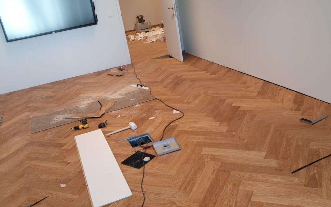 A Winning Combination for Herringbone Flooring