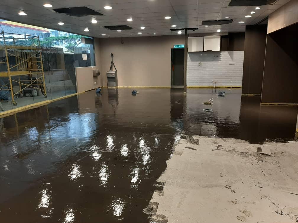 Shell Malaysia - IOBAC adhesive-free flooring - resin