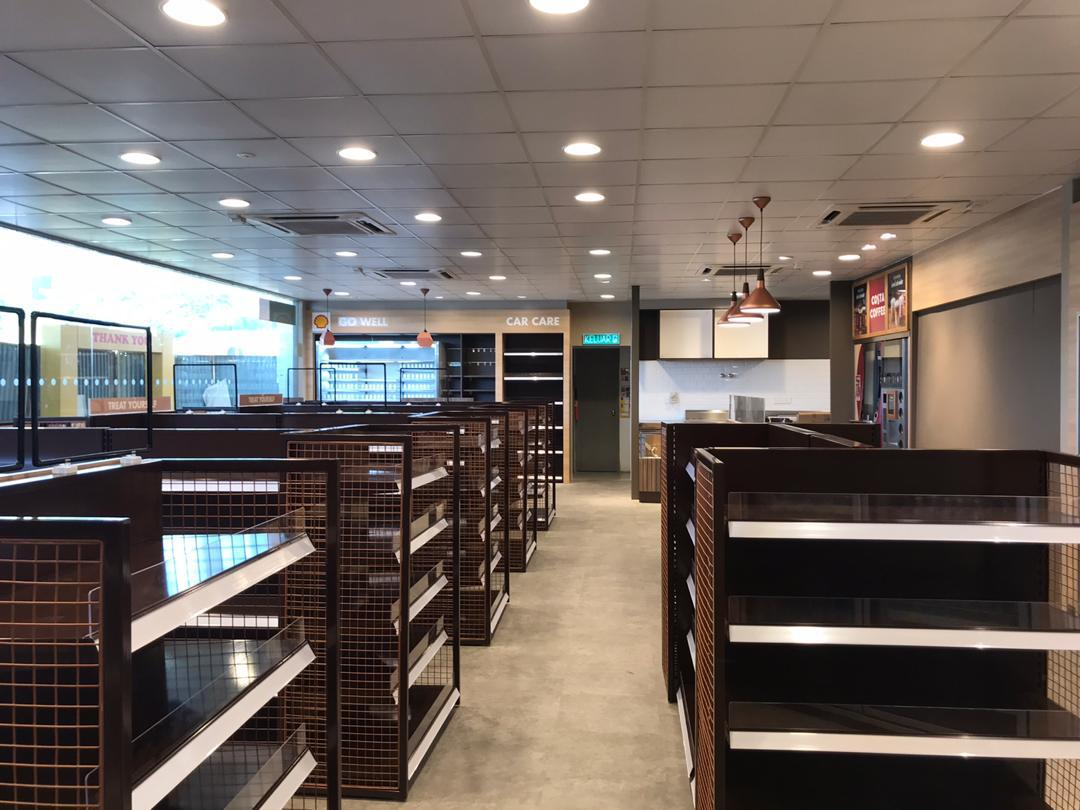 Shell Malaysia - IOBAC adhesive-free flooring - finished