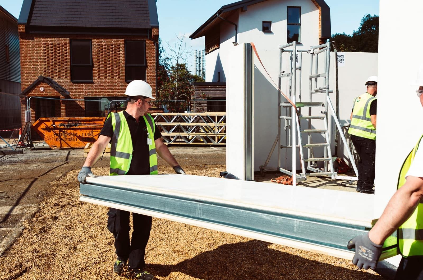Modular construction adhesive-free flooring