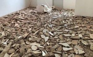 IOBAC Adhesive-free flooring - ceramic tile waste